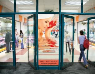 Digital retail window graphics