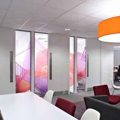 Inkjet Printable Window Film In Breakout Area